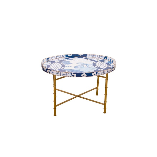 Dana Gibson Canton in Blue Coffee Table - Image 2 of 3
