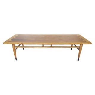 Mid-Century Ash and Walnut Coffee Table by Lane