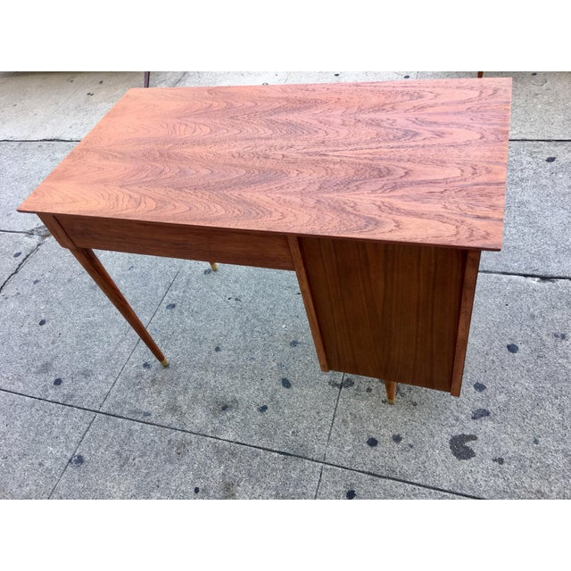 Vintage Mid-Century Wood Desk - Image 3 of 9