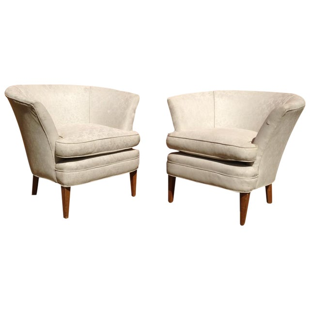 Image of 1960's Burbank Home Bespoke Arm Chairs - Pair