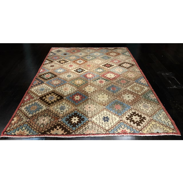 "Bellwether Rugs Vintage Turkish Zeki Muren Rug - 6'6""x10' - Image 2 of 9"