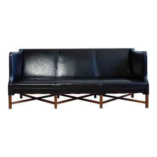 Kaare Klint Three-Person Sofa, Original Leather