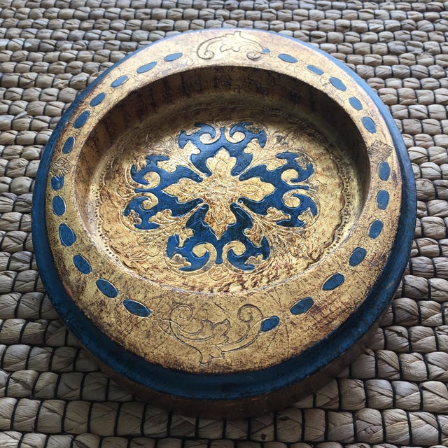 Made in Italy Florentine Small Tray Wooden Dish - Image 8 of 10