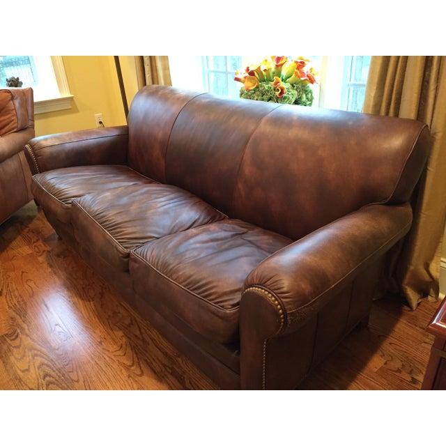 Hancock & Moore Leather Sofa - Image 5 of 6