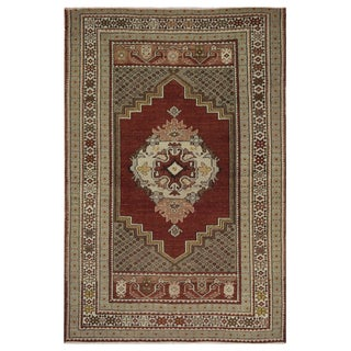 Vintage Turkish Oushak Rug - 3.5 x 5.3
