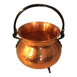 Vintage Hammered Copper Cauldron