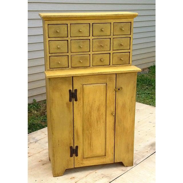 Handmade Yellow Apothecary Cupboard - Image 2 of 10