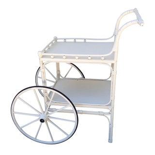 Vintage Heywood-Wakefield Wicker Bar Cart