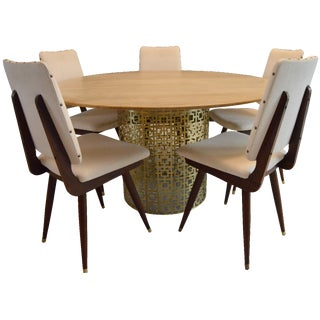 Jonathan Adler Dining Table & 5 Chairs