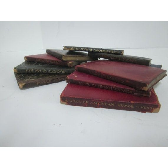 Image of Vintage Leather Poetry Books - Set of 9