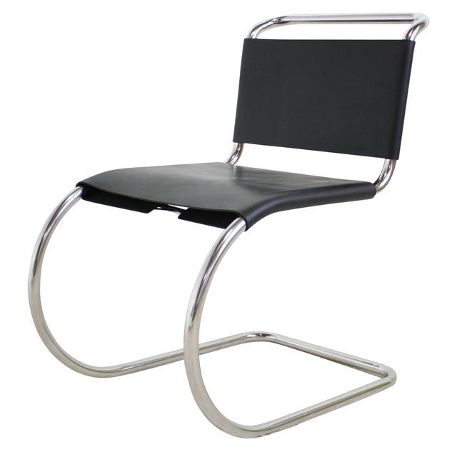 Mies Van Der Rohe Leather Cantilever Chair 5 Avail - Image 1 of 6