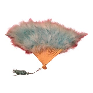 Antique Feathered Fan
