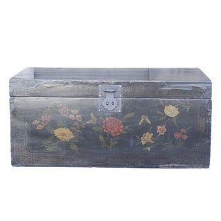 Vintage Black Lacquered Traveling Trunk