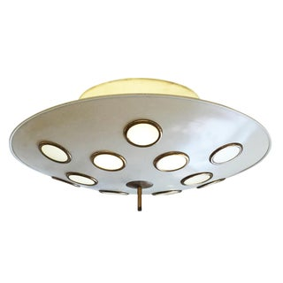 Saucer Flush Mount Chandelier Attributed to Arredoluce, Italy, 1950's