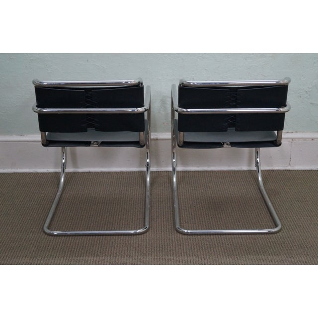 Knoll Ludwig Mies Van Der Rohe Chairs - Pair - Image 4 of 10
