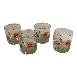 Couroc Poppy Lowball Bar Glasses - Set of 4