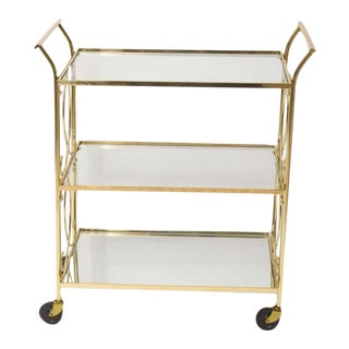 Mid-Century Italian Brass Bar Cart
