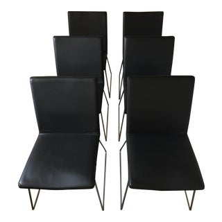 BoConcept Mariposa Delight Leather Dining Chairs- Set of 6
