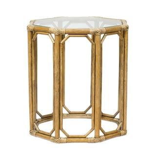 Selamat Designs Nutmeg Octagon Glass End Table