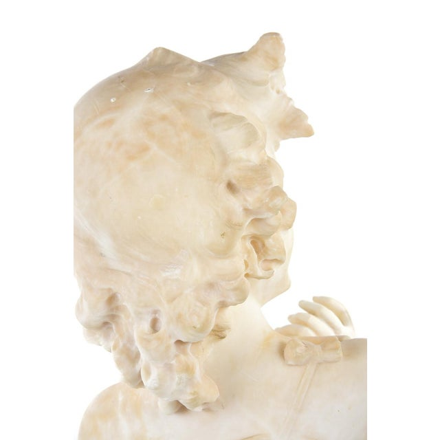 19th Century Antique Alabaster Sculpture of a Young Painter - Image 9 of 9