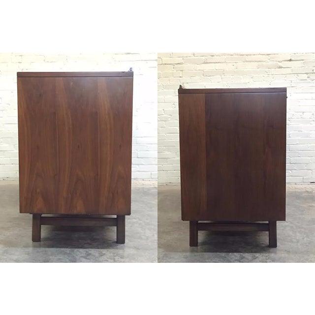 Walnut Mid-Century Modern Dresser & Mirror - Image 6 of 11