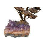 Image of Amethyst Geode & Brass Bird Sculpture
