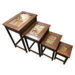 Image of Asian Hand Carved Nesting Tables - Set of 4
