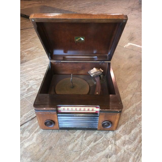 Image of 1940's Rca Victor Victrola Radio Record Player