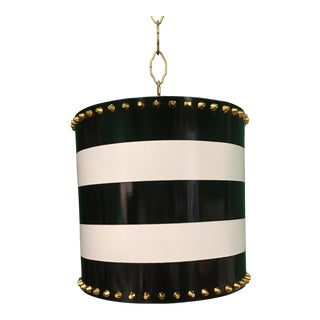 Taylor Burke Home Striped Metal Pendant
