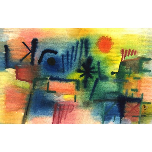 Image of Vintage Abstract Painting, 1976
