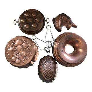 Copper Escargot Kitchen Collection - Set of 7