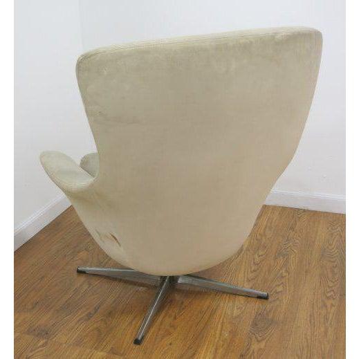 Overman Swivel Lounge Chair Scandinavian Modern, Circa 1970 - Image 3 of 3