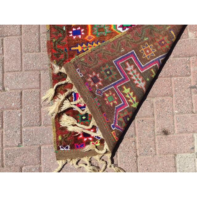 Vintage Hand Knotted Turkish Runner - 2′11″ × 14′5″ - Image 7 of 7
