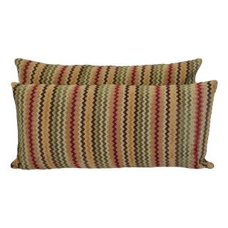 Newport Zig Zag Chenille Lumbar Pillows - a Pair