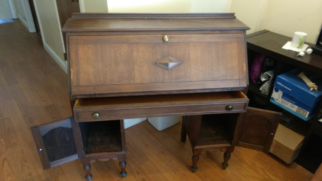 Northwestern Cabinet Co. Secretary Desk   Image 3 Of 6