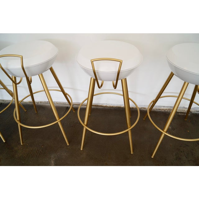 Mid-Century California Modern Bar Stools - Set of 4 - Image 11 of 11