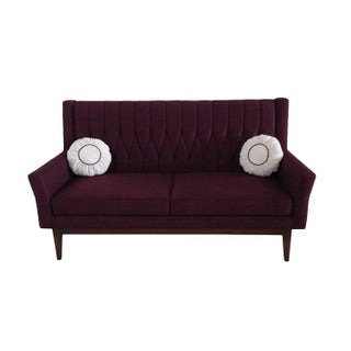 Lola Purple Quilted Sofa