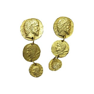 Roman Motif Coin Earrings
