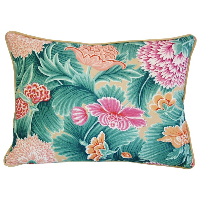 Designer Brunschwig & Fils Floral Pillow - Image 1 of 4