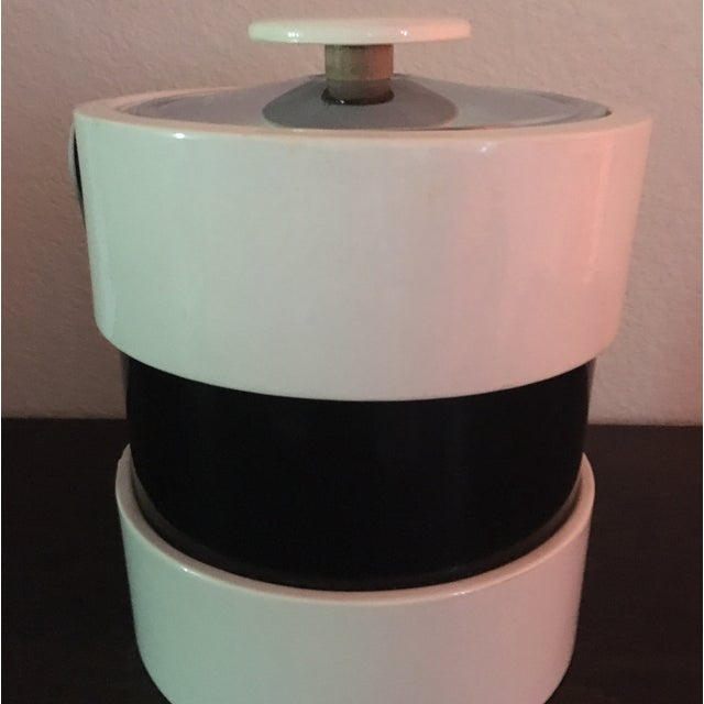 Mid Century Retro Black & White Ice Bucket - Image 3 of 5