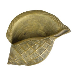 Vintage Brass Shell Sculpture