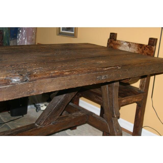 17th century antique spanish door dining table chairish