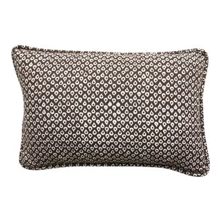 "Katherine Rally Mud Hut Brown ""Mandawa"" Batik Lumbar Pillow"