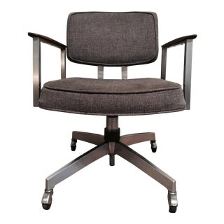 Mid-Century Gray Office Chair