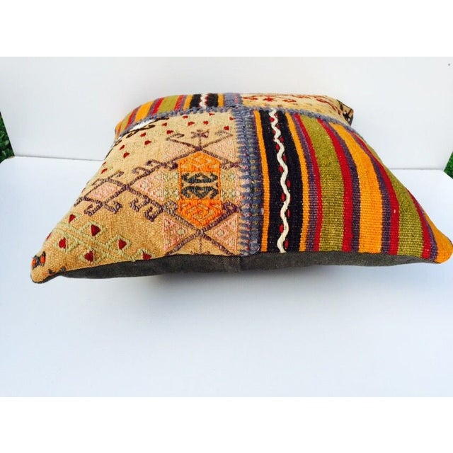 VINTAGE Turkish Kilim Pillow - Image 3 of 5