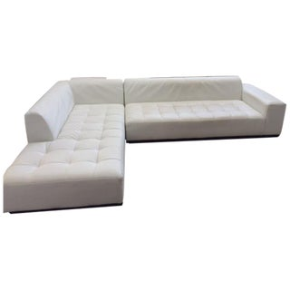 Blueprint Contemporary White Upholstered Sectional