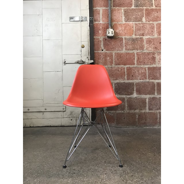 Eames Vitra Eiffel Base Red Chair - Image 3 of 5