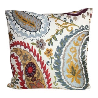 Kim Salmela Embroidered Floral Pillow