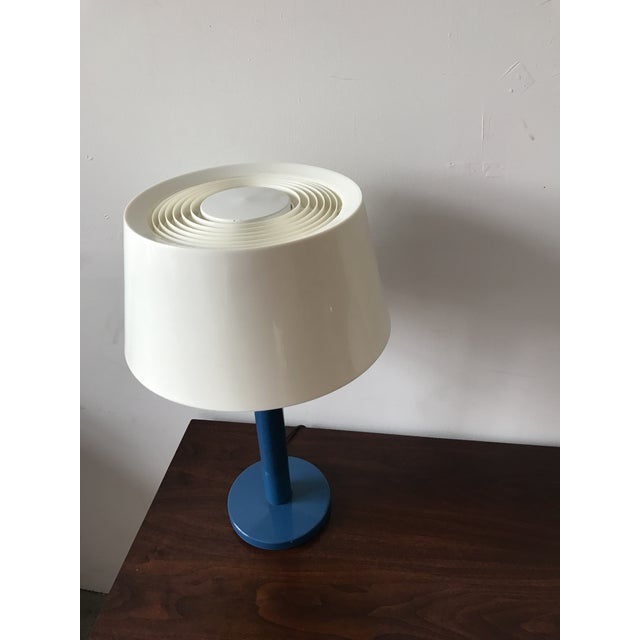 Gerald Thurston Mid-Century Cobalt Table Lamp - Image 4 of 7