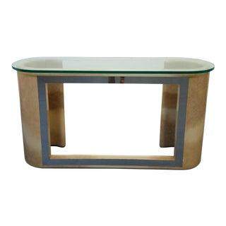 Ernest C. Masi Lacquered Parchment Console Table